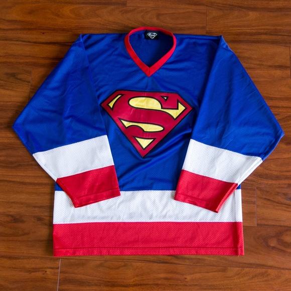 ... Superman Hockey Jersey. M 5b915ddf194dada044308dc0 a38fdbe63d2